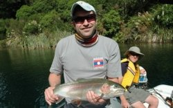 Taupo Rainbow Trout caught fly fishing by Barney Geerligs Spain