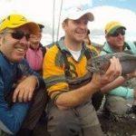 Happy Aussies fly fishing Tongariro