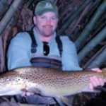 Monster NZ Brown Trout caught fly fishing by Johnny Schuster USA