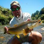 Leon Grobaski USA with Whanganui brown trout fishing guides NZFC
