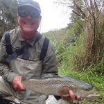 Taupo Brown Trout caught fly fishing by Robert Croft USA