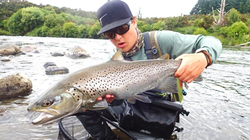 Tongariro huge brown trout fly fishing guide March 2018