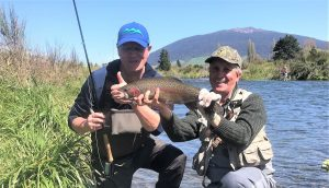 Grant's first day fly fishing the Tongariro River